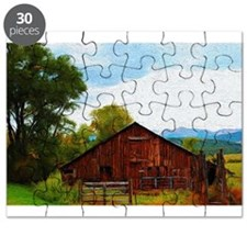 Barn in the Rockies Puzzle