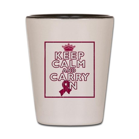 Sickle Cell Anemia Keep Calm Carry On Shot Glass