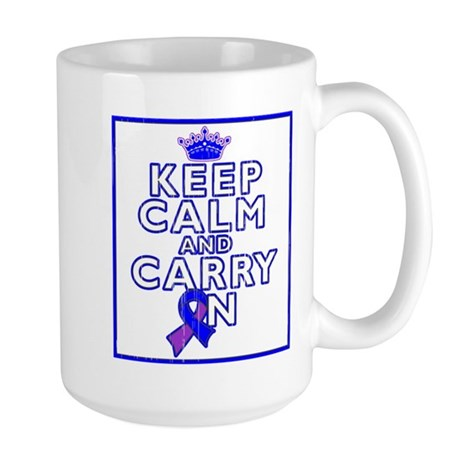 Rheumatoid Arthritis Keep Calm Carry On Large Mug