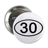 Number 30 Oval Button