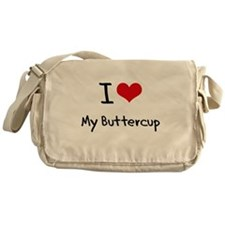 I Love My Buttercup Messenger Bag