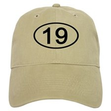 Number 19 Oval Baseball Cap