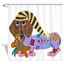Dachshund Bedtime Shower Curtain