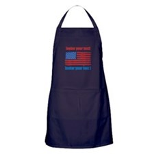 US flag artistic Apron (dark)