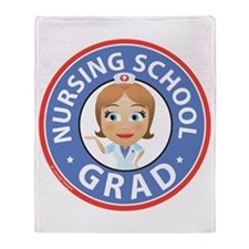 Nursing School Grad Throw Blanket