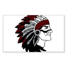 Native American Chief with Red Headdress Decal