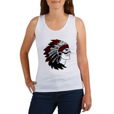 Native American Chief with Red Headdress Tank Top