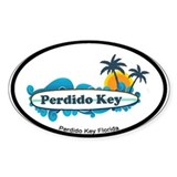 Perdido Key FL - Surf Design. Decal