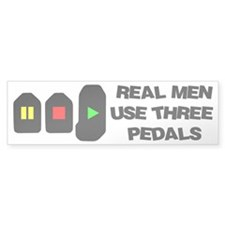 Cute Real men Bumper Sticker