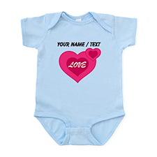 Custom Pink Love Hearts Body Suit