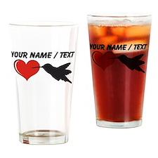 Custom Hummingbird Heart Drinking Glass
