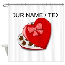 Custom Heart Chocolate Box Shower Curtain