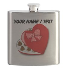 Custom Heart Chocolate Box Flask