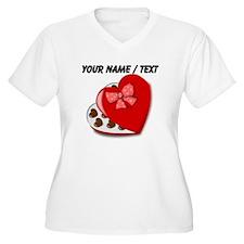 Custom Heart Chocolate Box Plus Size T-Shirt
