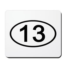 Number 13 Oval Mousepad
