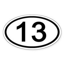 Number 13 Oval Oval Decal