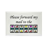 Forward Mail To Casino Rectangle Magnet