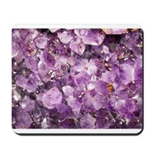 Beautiful Photo of Purple Amethyst Crystals Mousep