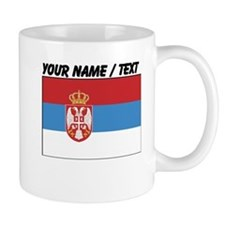 Custom Serbia Flag Small Mug