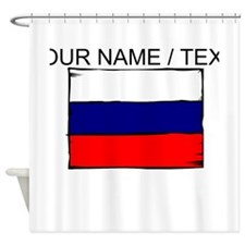 Custom Russia Flag Shower Curtain