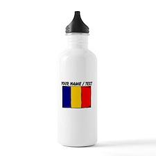 Custom Romania Flag Water Bottle