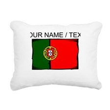Custom Portugal Flag Rectangular Canvas Pillow