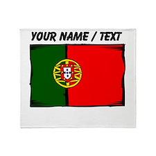 Custom Portugal Flag Throw Blanket