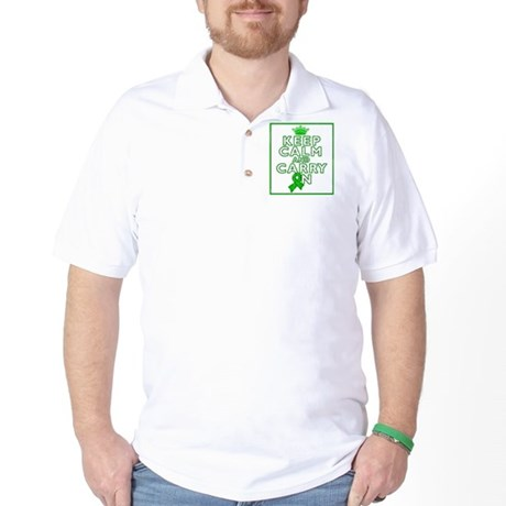 Neurofibromatosis Keep Calm Carry On Golf Shirt
