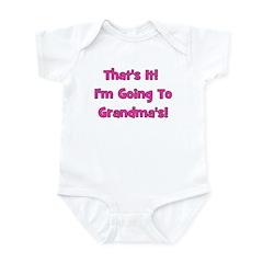 I'm Going To Grandma's! Pink Infant Bodysuit