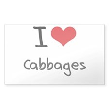 I love Cabbages Decal