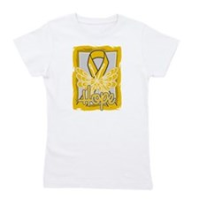 Butterfly Appendix Cancer Girl's Tee