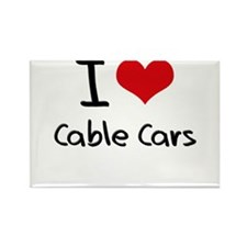 I love Cable Cars Rectangle Magnet