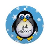 Cute Got Bassoon Penguin Music Ornament