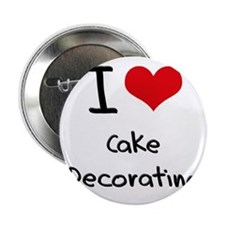 "I love Cake Decorating 2.25"" Button"