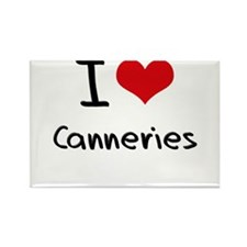 I love Canneries Rectangle Magnet