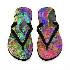 Bright Burst of Color Flip Flops