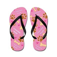 Poochon Mom Gift Flip Flops