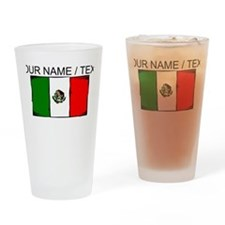 Custom Mexico Flag Drinking Glass