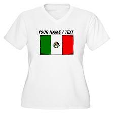 Custom Mexico Flag Plus Size T-Shirt