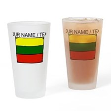 Custom Lithuania Flag Drinking Glass