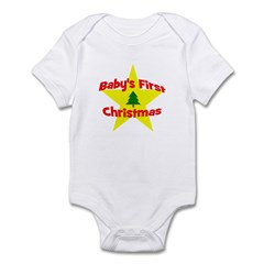 Baby's First Christmas star Infant Bodysuit