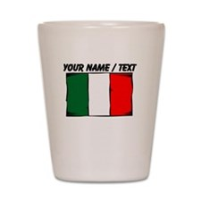 Custom Italy Flag Shot Glass