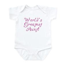 World's Greatest Aunt! Infant Bodysuit