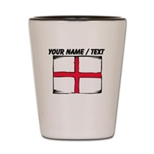 Custom England Flag Shot Glass