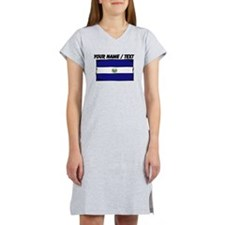 Custom El Salvador Flag Women's Nightshirt