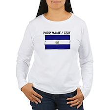 Custom El Salvador Flag Long Sleeve T-Shirt