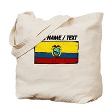 Custom Ecuador Flag Tote Bag