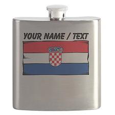 Custom Croatia Flag Flask