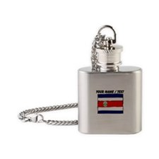 Custom Costa Rica Flag Flask Necklace