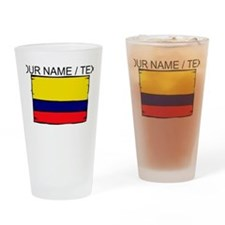 Custom Colombia Flag Drinking Glass